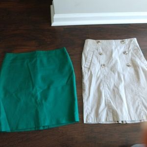 Lot of 2 Dalia Collection Skirts